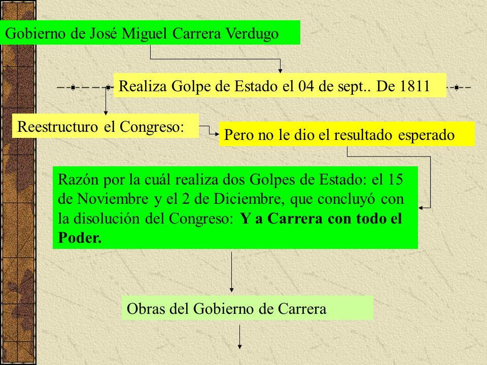 Gobierno de José Miguel Carrera Verdugo