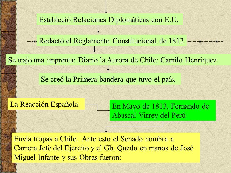 Estableció Relaciones Diplomáticas con E.U.