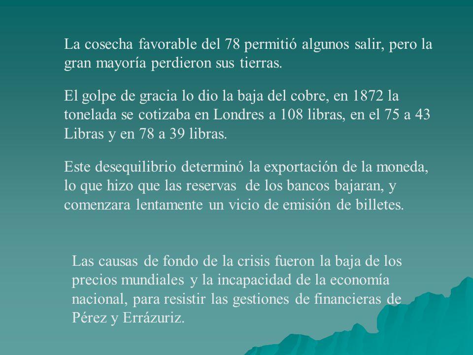 La cosecha favorable del 78 permitió algunos salir, pero la gran mayoría perdieron sus tierras.