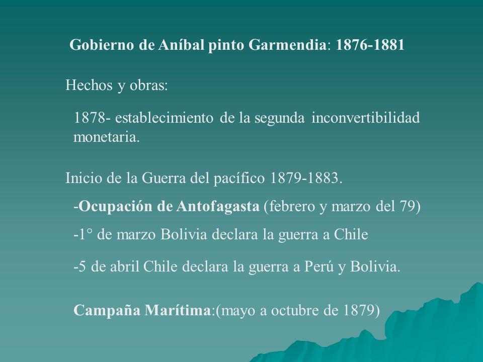 Gobierno de Aníbal pinto Garmendia: 1876-1881
