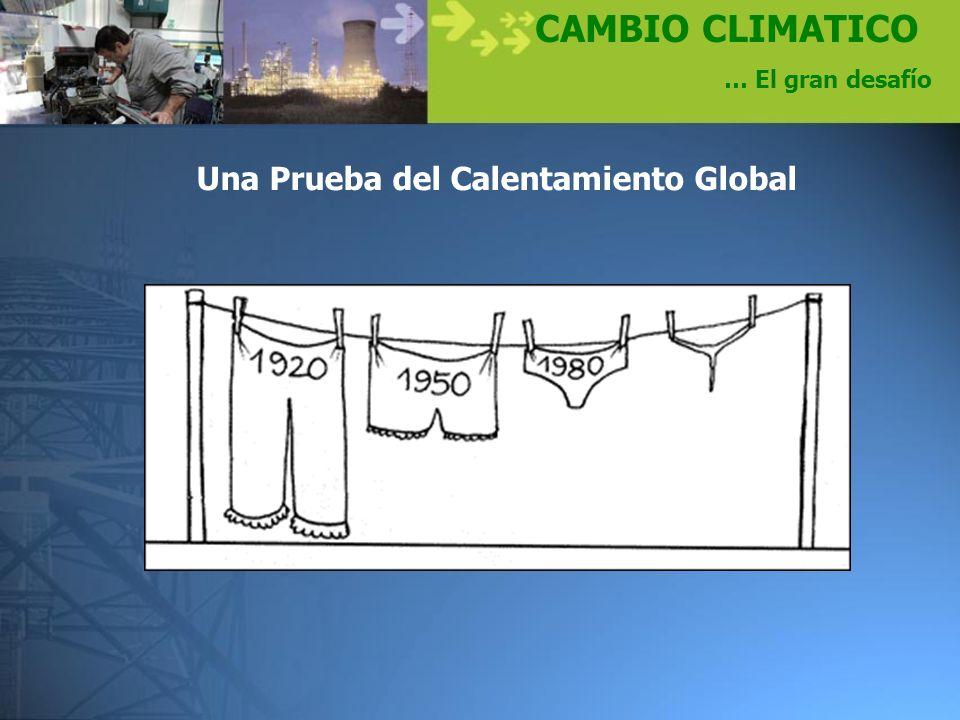 Una Prueba del Calentamiento Global