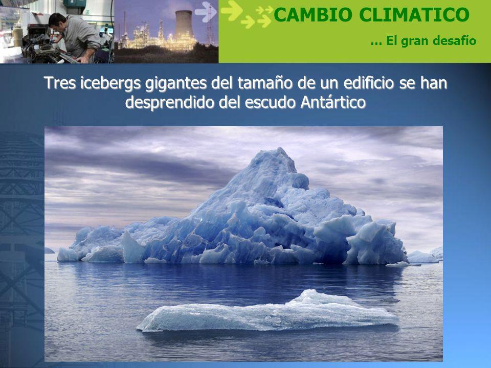 CAMBIO CLIMATICO … El gran desafío.