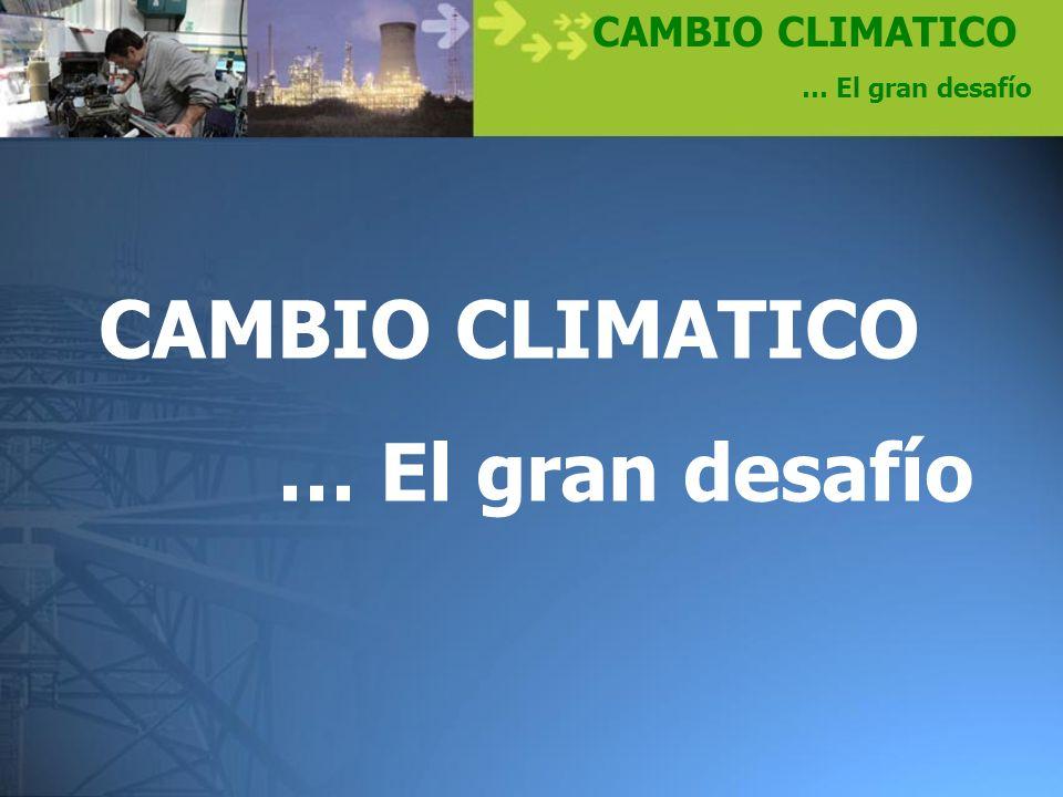 CAMBIO CLIMATICO … El gran desafío CAMBIO CLIMATICO … El gran desafío