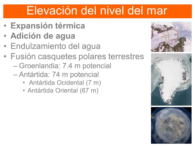 Elevación del nivel del mar