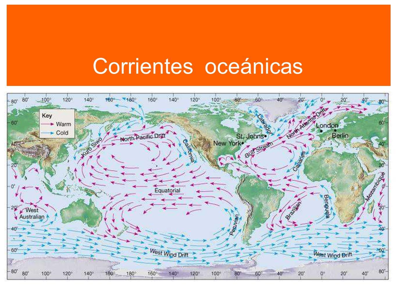 Corrientes oceánicas Corrientes oceánicas 107