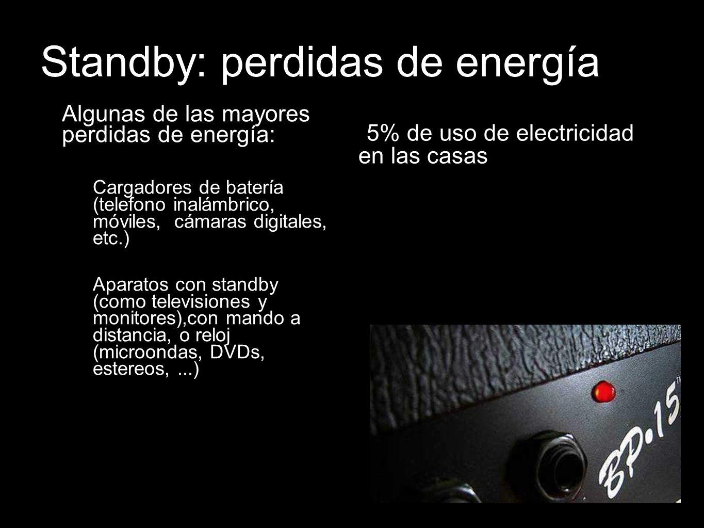 Standby: perdidas de energía