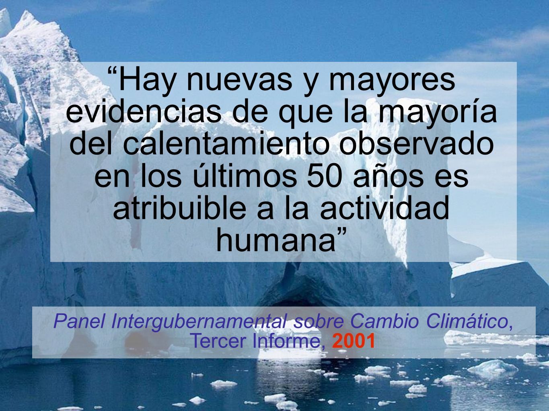 Panel Intergubernamental sobre Cambio Climático, Tercer Informe, 2001