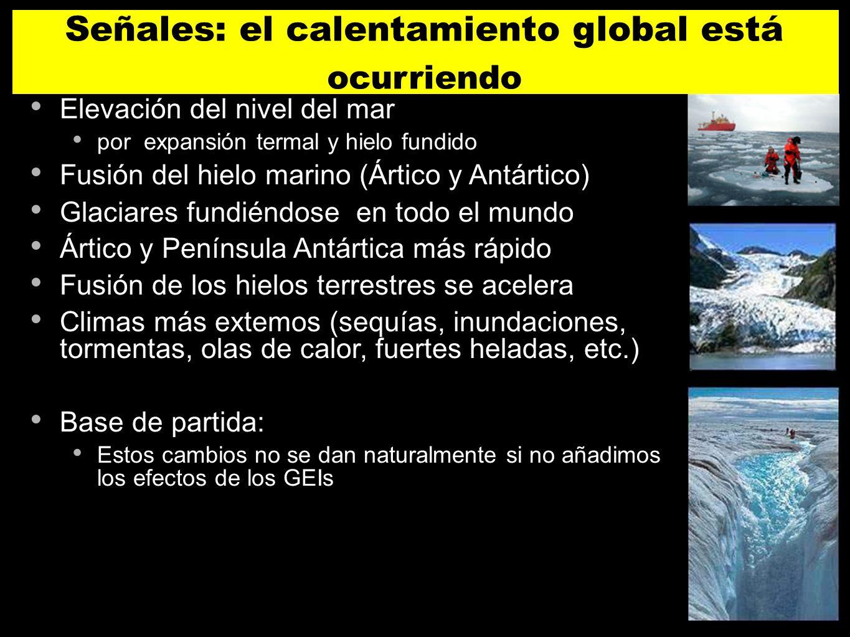 Señales: el calentamiento global está ocurriendo