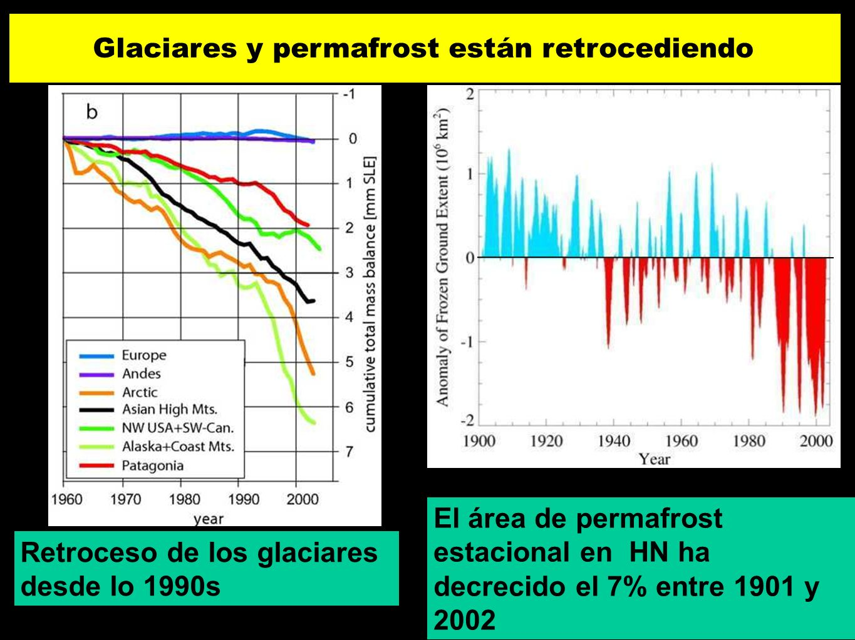 Glaciares y permafrost están retrocediendo