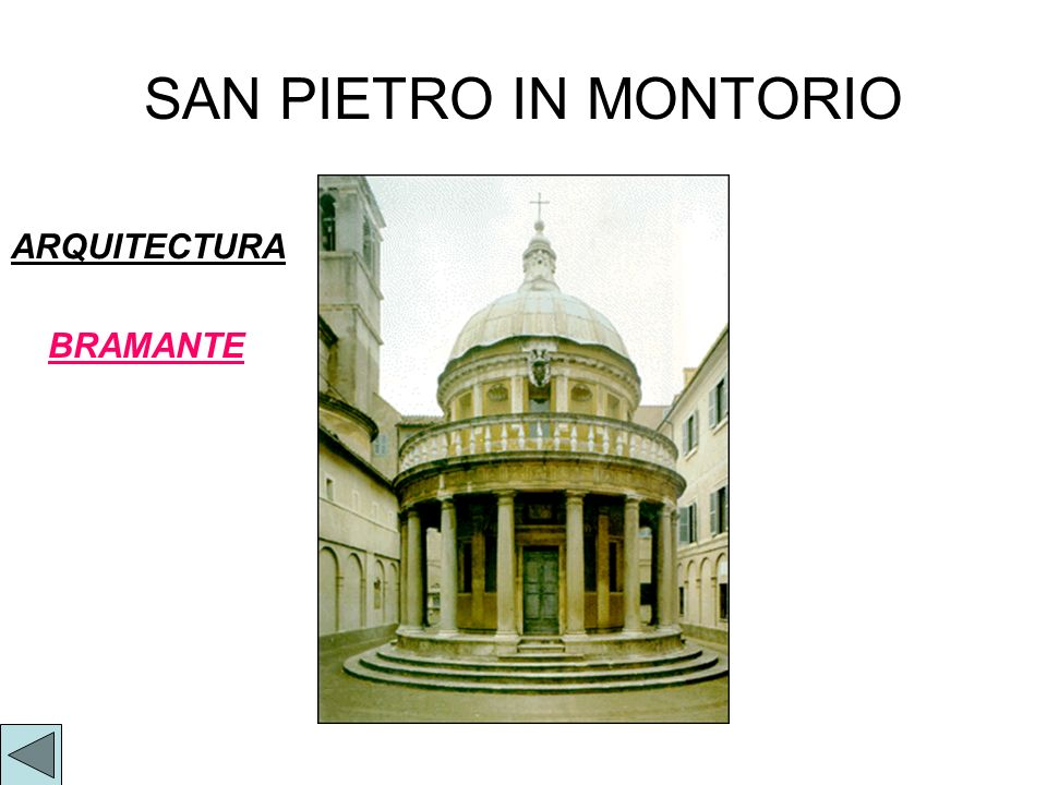 SAN PIETRO IN MONTORIO ARQUITECTURA BRAMANTE