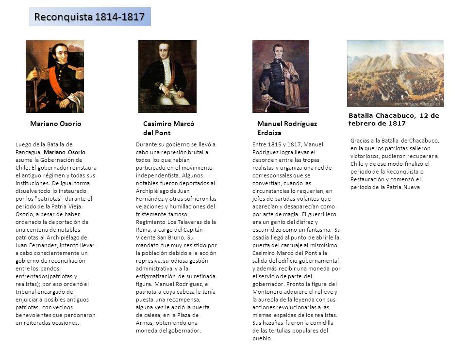 Reconquista 1814-1817 Mariano Osorio Casimiro Marcó del Pont