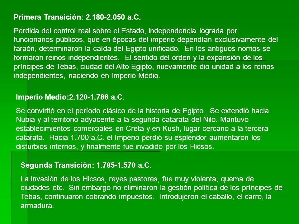 Primera Transición: 2.180-2.050 a.C.