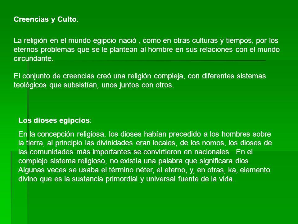 Creencias y Culto: