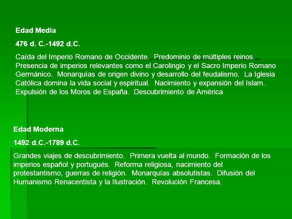 Edad Media 476 d. C.-1492 d.C.