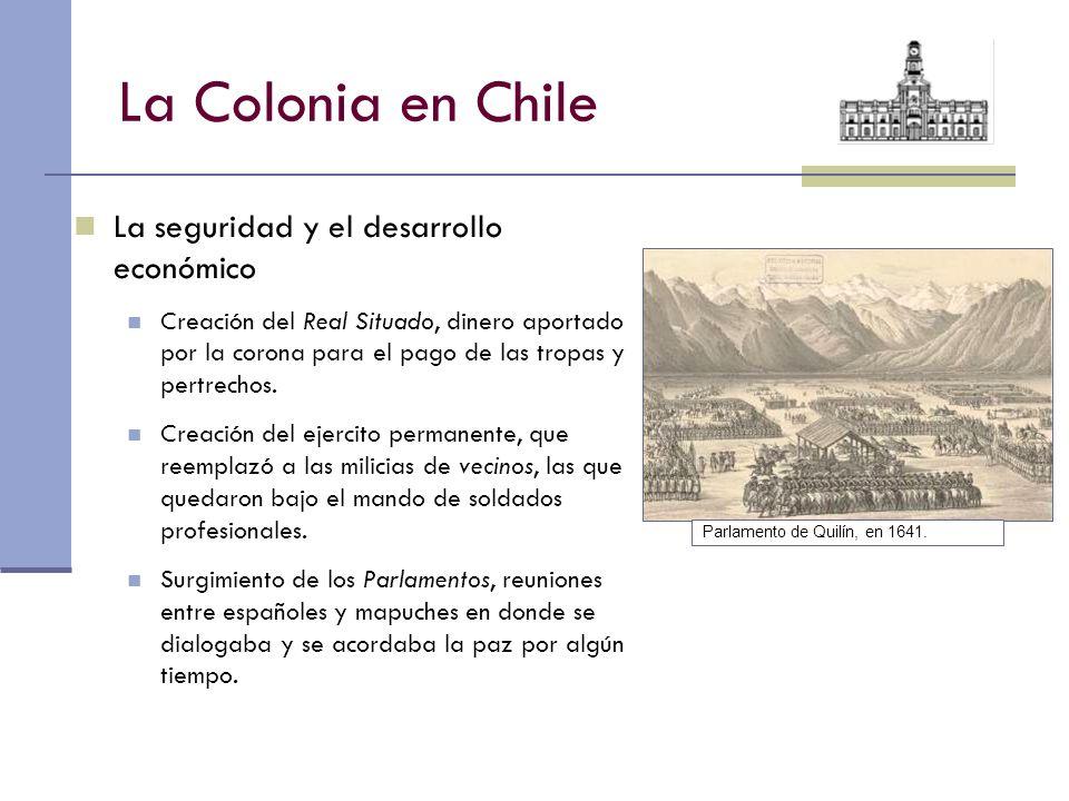 La Colonia en Chile La seguridad y el desarrollo económico
