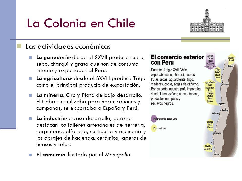 La Colonia en Chile Las actividades económicas