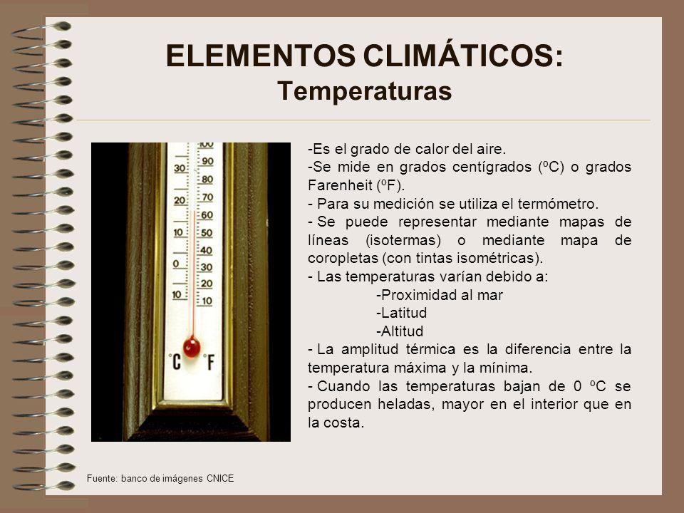 ELEMENTOS CLIMÁTICOS: Temperaturas