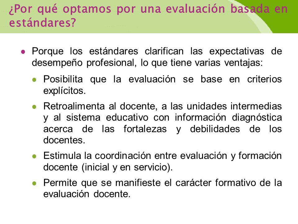 ¿Por qué optamos por una evaluación basada en estándares