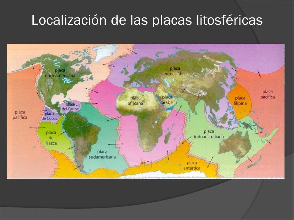 Localización de las placas litosféricas