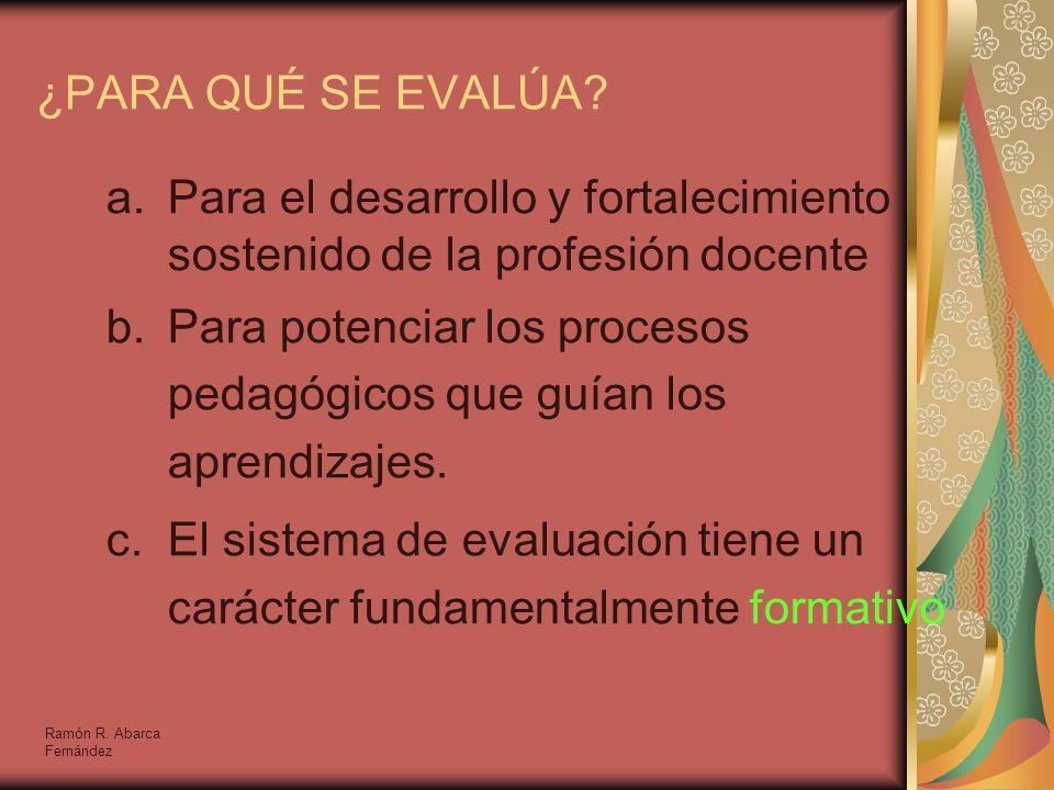 Para el desarrollo y fortalecimiento sostenido de la profesión docente
