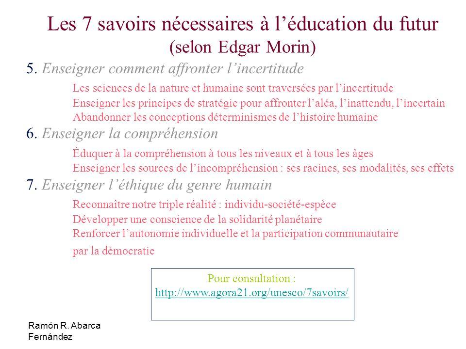 Les 7 savoirs nécessaires à l'éducation du futur (selon Edgar Morin)