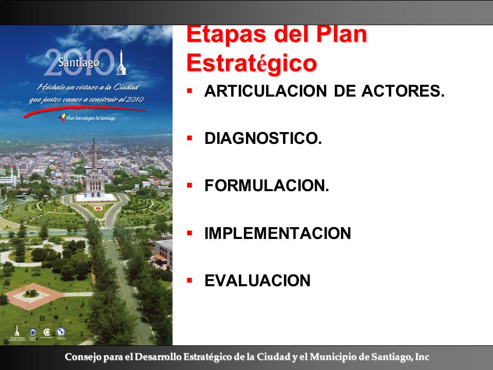 Etapas del Plan Estratégico