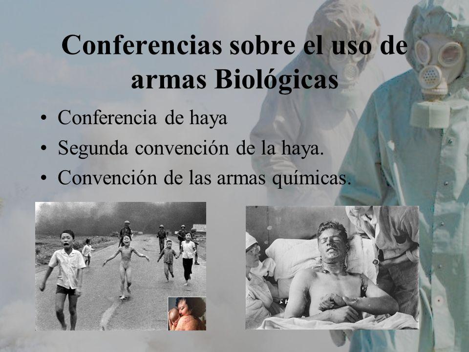 Conferencias sobre el uso de armas Biológicas