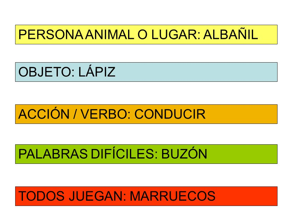 PERSONA ANIMAL O LUGAR: ALBAÑIL