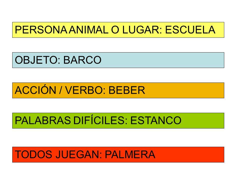 PERSONA ANIMAL O LUGAR: ESCUELA