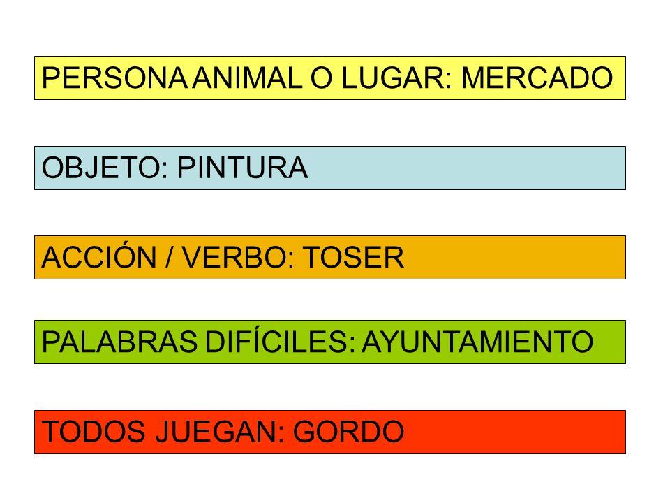 PERSONA ANIMAL O LUGAR: MERCADO