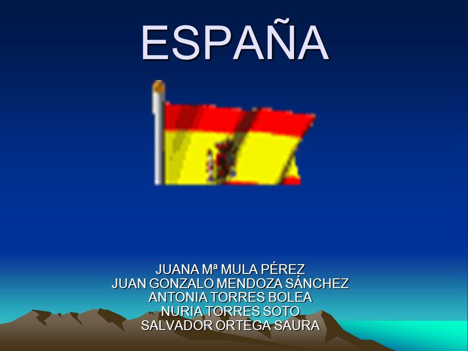 ESPAÑA JUANA Mª MULA PÉREZ JUAN GONZALO MENDOZA SÁNCHEZ ANTONIA TORRES BOLEA NURIA TORRES SOTO SALVADOR ORTEGA SAURA.