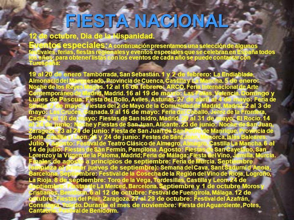 FIESTA NACIONAL 12 de octubre, Dia de la Hispanidad.