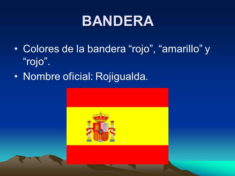 BANDERA Colores de la bandera rojo , amarillo y rojo .
