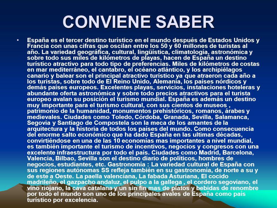 CONVIENE SABER