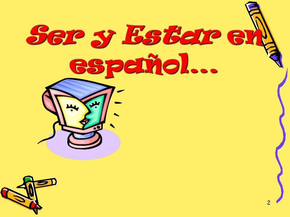 Ser y Estar en español…