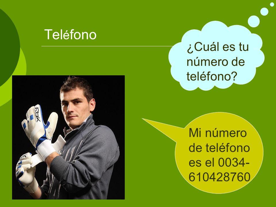 Teléfono ¿Cuál es tu número de teléfono