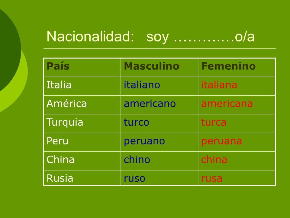 Nacionalidad: soy ……….…o/a