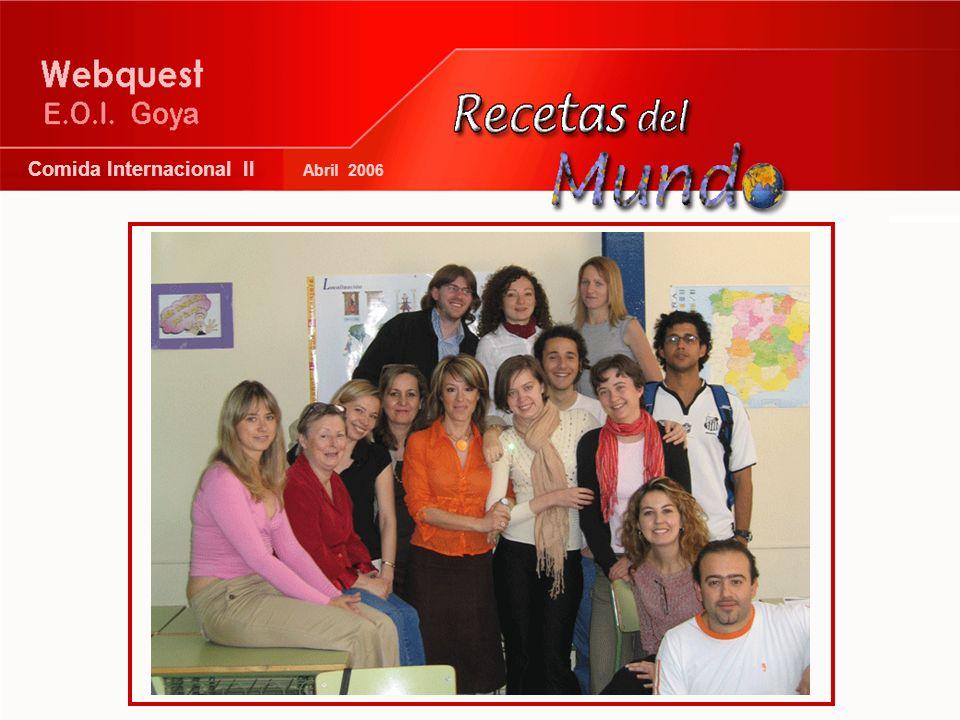 Comida Internacional II Abril 2006