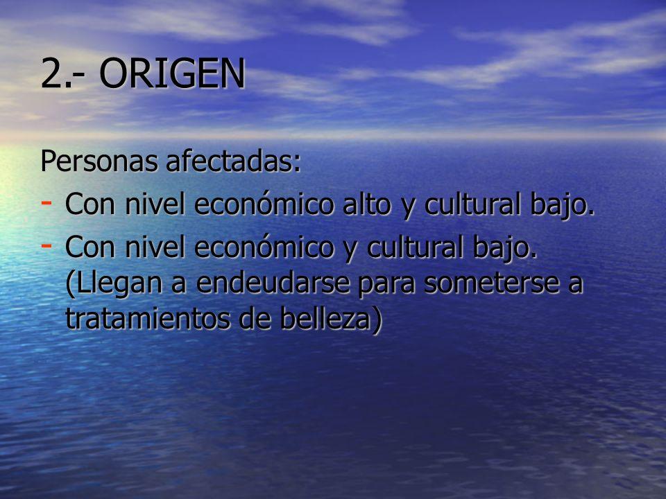 2.- ORIGEN Personas afectadas: