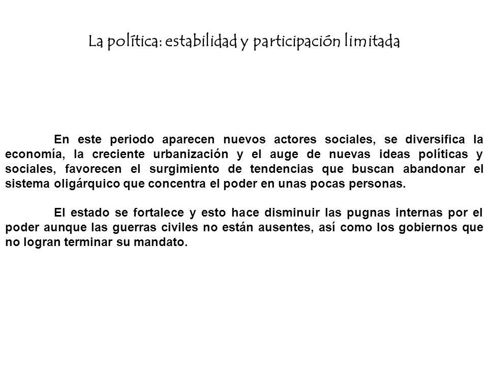 La política: estabilidad y participación limitada