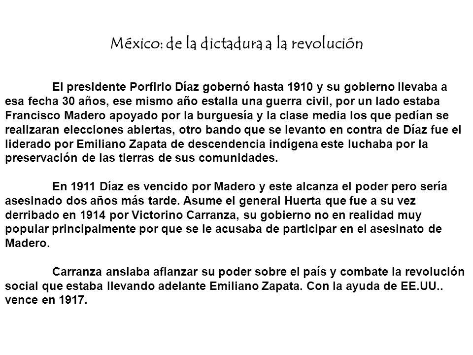México: de la dictadura a la revolución
