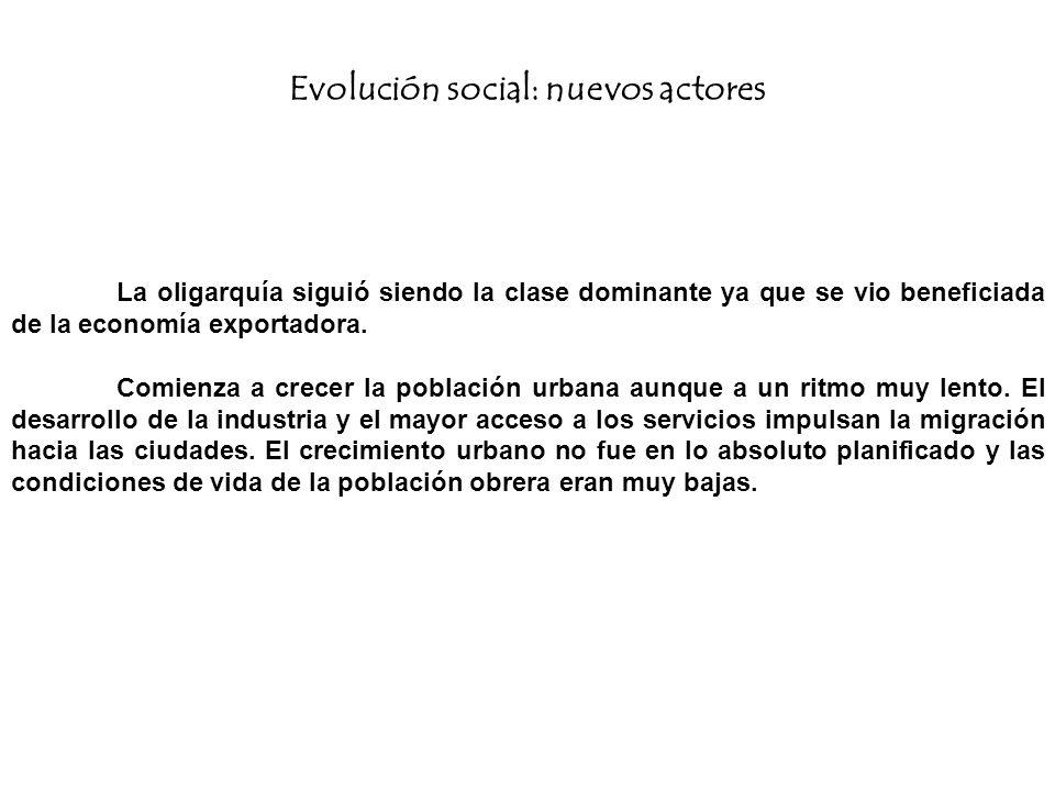 Evolución social: nuevos actores