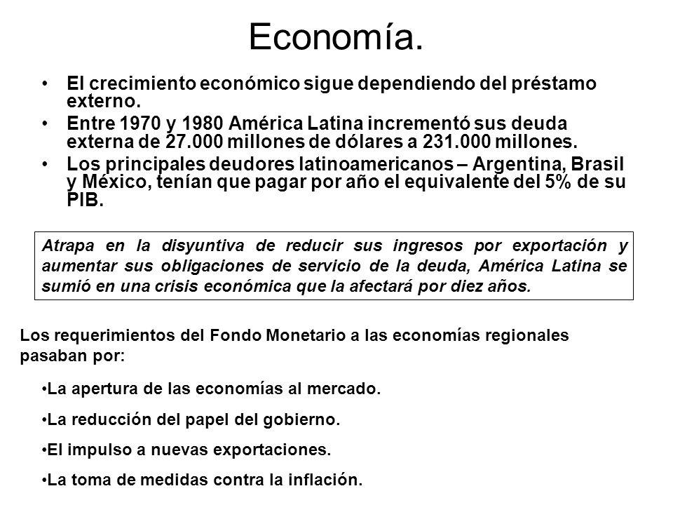 Economía. El crecimiento económico sigue dependiendo del préstamo externo.