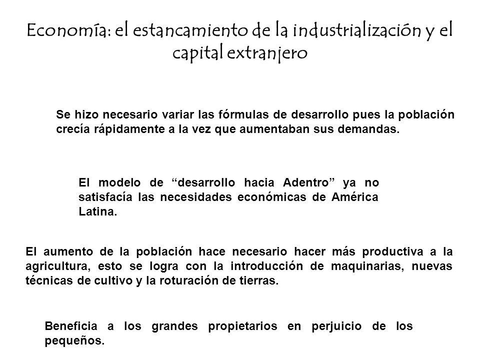 Economía: el estancamiento de la industrialización y el capital extranjero