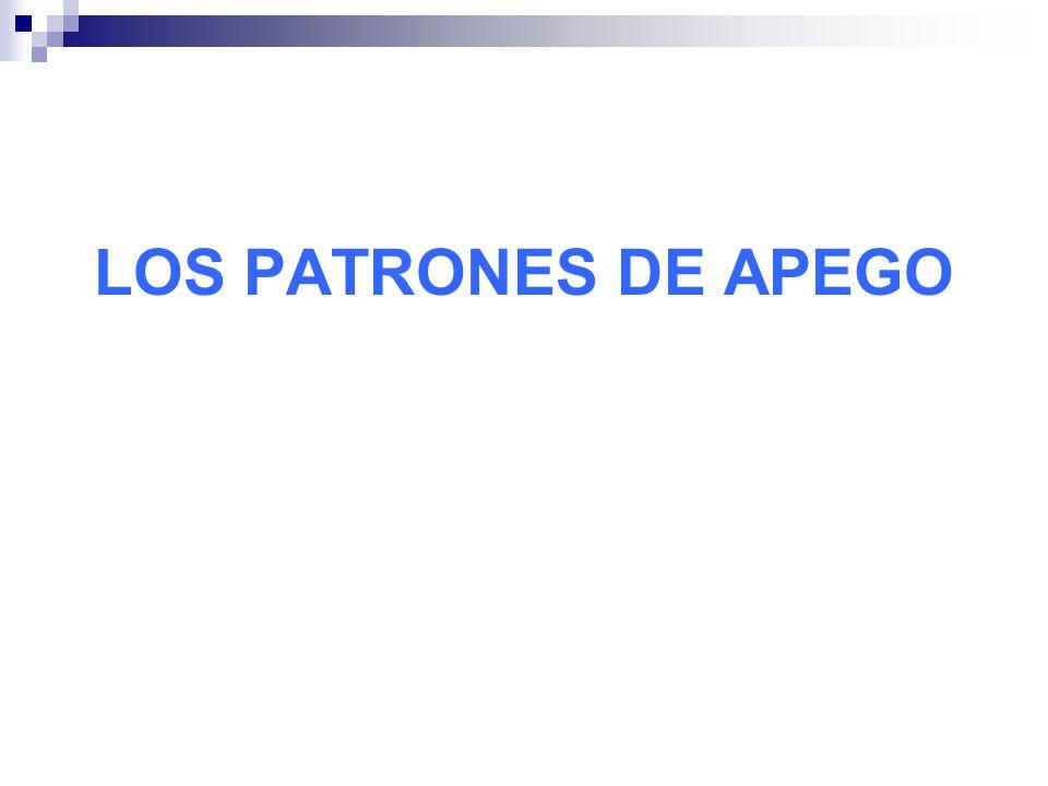 LOS PATRONES DE APEGO