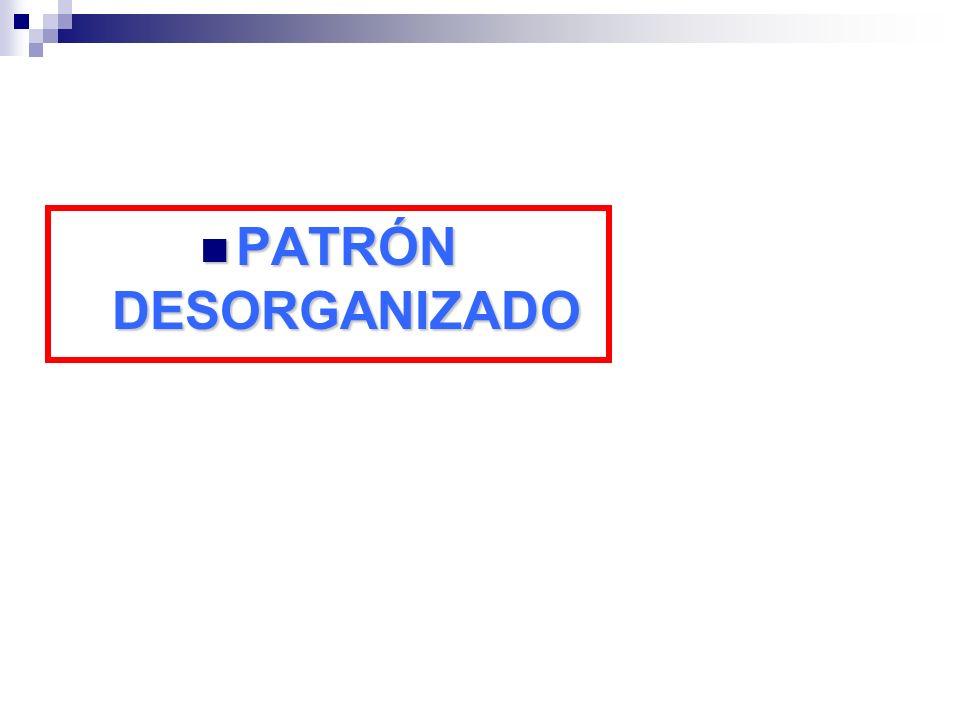PATRÓN DESORGANIZADO