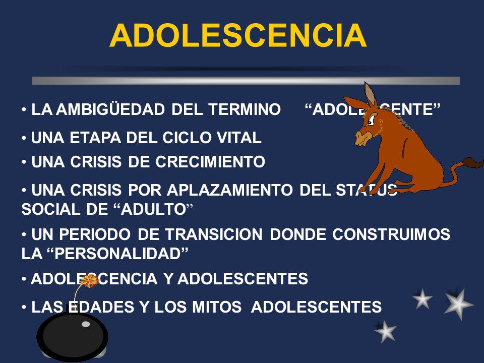 ADOLESCENCIA LA AMBIGÜEDAD DEL TERMINO ADOLESCENTE