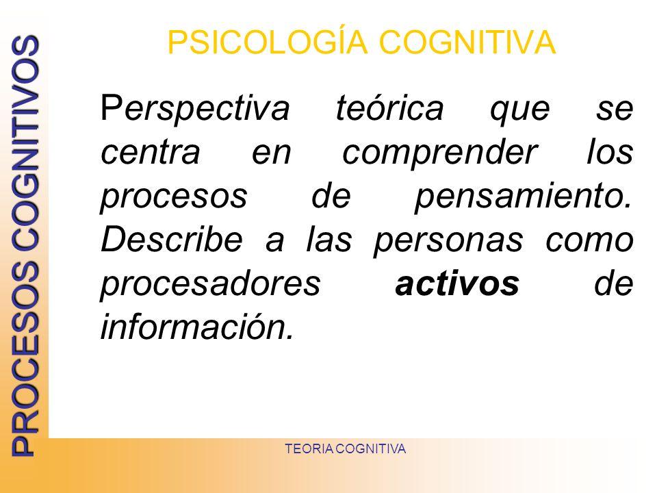 PSICOLOGÍA COGNITIVA