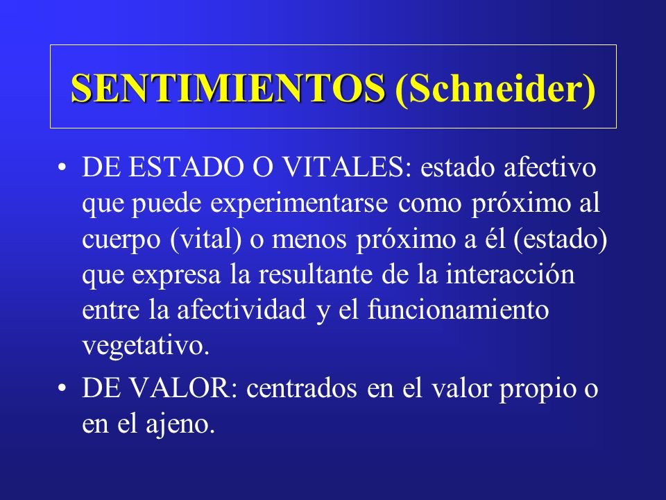 SENTIMIENTOS (Schneider)