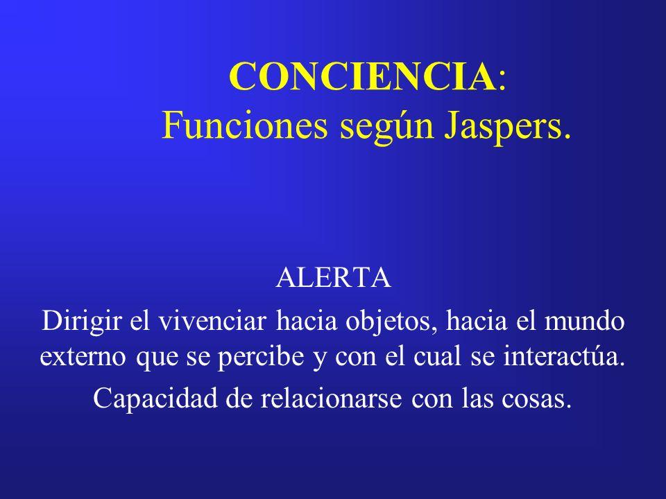 CONCIENCIA: Funciones según Jaspers.